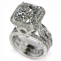 Прямая доставка, новинка, роскошные ювелирные изделия, обещающее кольцо, 925 пробы, серебряная Подушка, форма AAA CZ, счастливое Свадебное женск