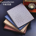 Fashion CUREWE KERIEN Brand PU Leather Men Short Wallet Canvas Grain Style Small Clutch Bag Coin Purse High Quality 2016 New
