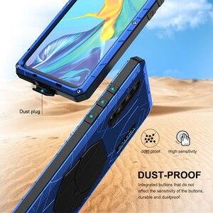 Image 5 - Voor Huawei P30 P30 Pro Telefoon Case Hard Aluminium Metal Gehard Glas Screen Protector Cover Voor Mate10 20 Zware bescherming
