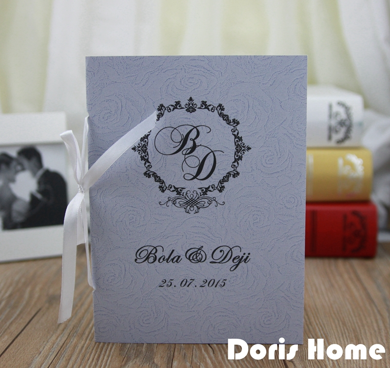 customized wedding program of events wedding booklet in cards