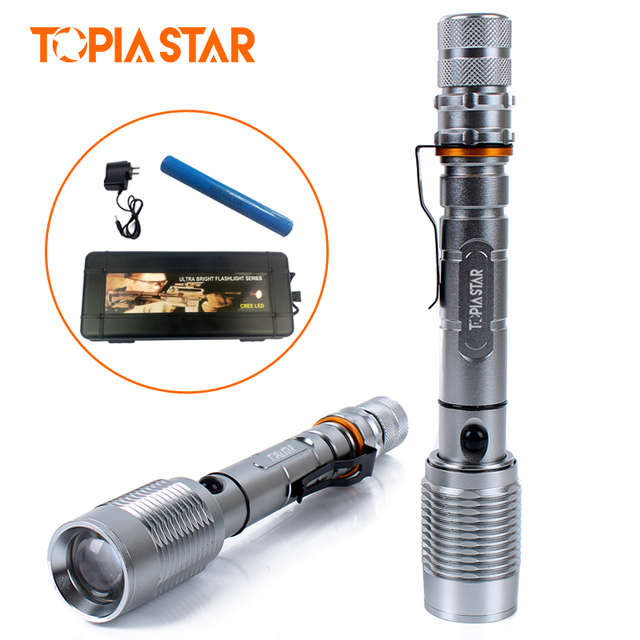 TOPIA STAR Brightest Tactical LED Flashlights Light Powerful Lamp Hunting  Waterproof Torch for Camping