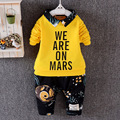 2016 baby boys clothing set spring Children's Clothing Sets Printed letter patter 0-3 year baby Clothing Set 2Pcs sports clothes