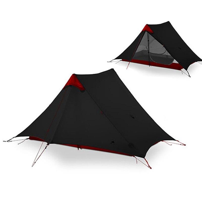 3F UL ENGRENAGEM lanshan 1-2 Pessoas Oudoor 15D Nylon Revestimento de Silicone Sem Haste Ultraleve Barraca de Acampamento Profissional Tenda