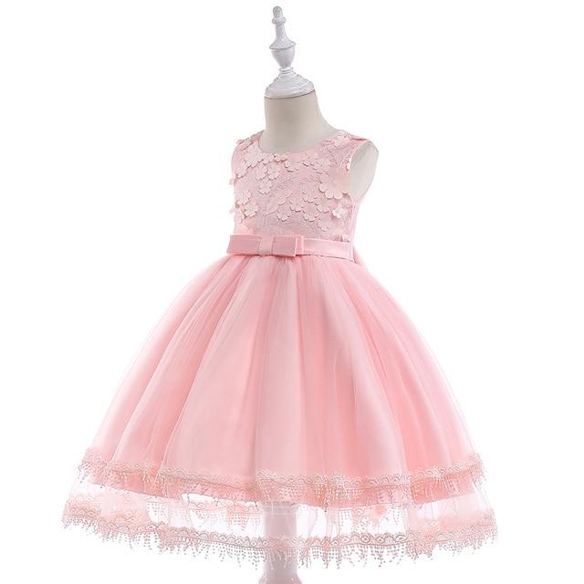 Wholesale Children Girl Elegant Pageant Party Dresses Girl Wedding Dress For Birthday Free DHL 10pcs/lot L5030