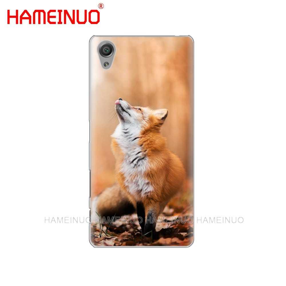 HAMEINUO น่ารัก Fox In ฤดูใบไม้ร่วงใบป่าโทรศัพท์กรณีสำหรับ sony xperia C6 XA1 XA2 XA ULTRA X XP L1 L2 X XZ1 compact XR/XZ PREMIUM