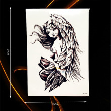 1PC Sexy Waterproof Fake Tattoo Angel Wing Tears Design Body Back Art Temporary Tattoo Stickers For Men Women Arm Tatoo HHB-339