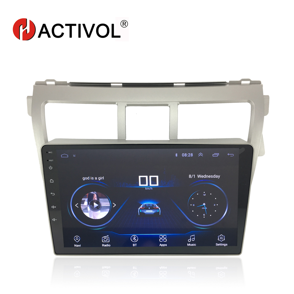 HACTIVOL 9 1024 600 Quadcore android 8 1 car radio for Toyota Vios 2009 2010 2011