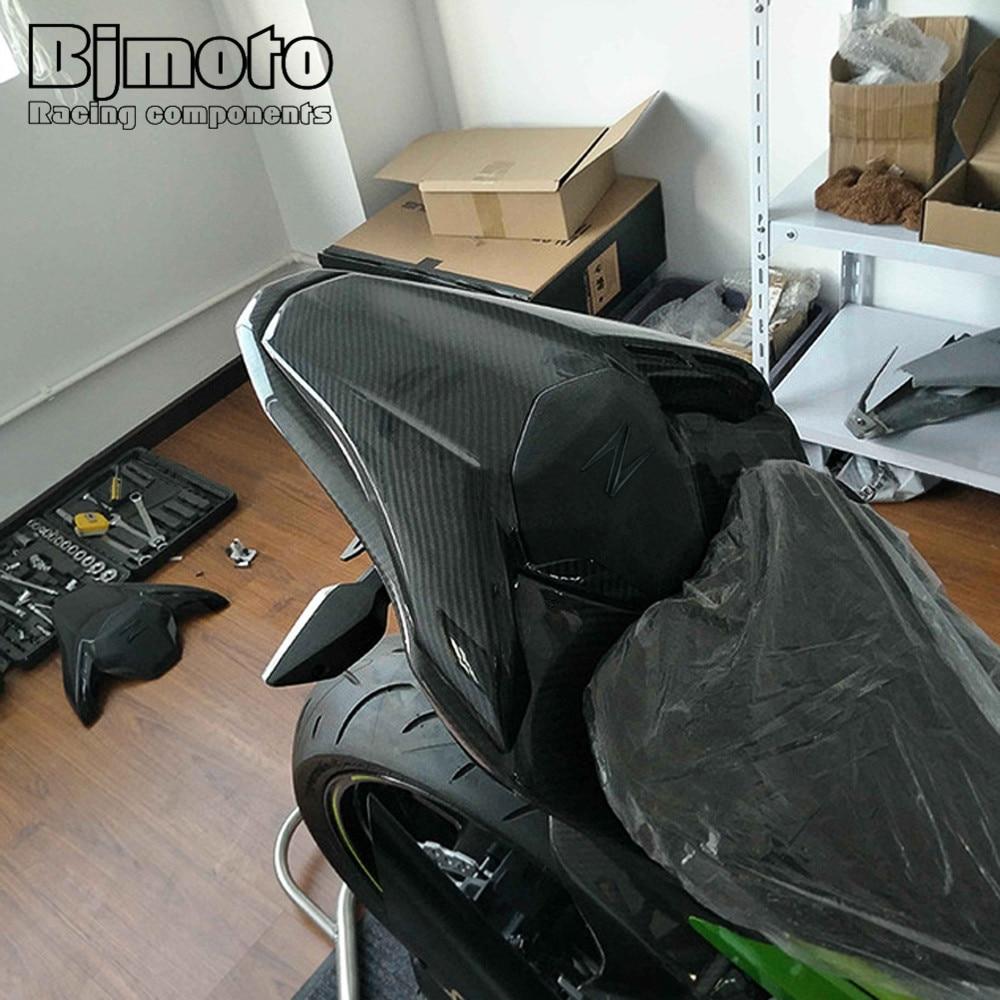 BJMOTO ABS plastique moto en Fiber de carbone siège arrière Pillion capot carénage couverture pour Kawasaki Z900 2017 2018 - 4