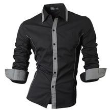 Jeansian Frühling Herbst Eigenschaften Shirts Männer Casual Jeans Hemd Neue Ankunft Langarm Casual Slim Fit Männlichen Shirts 8015
