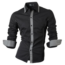 jeansian Spring Autumn Features Shirts Men Casual Jeans Shirt New Arrival Long Sleeve Casual Slim Fit Male Shirts 8015