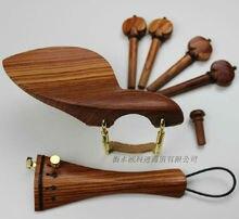2 sätze bestnote 4/4 violine palisander fitings/teile zubehör saitenhalter ebenholzkinnhalter schellen stachel schwanz gut 4 pegs freies verschiffen