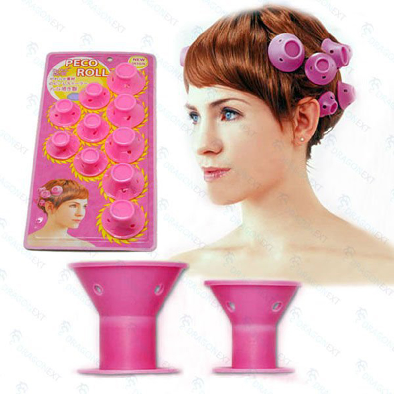 RORASA 10pcs Automatic Hair Curlers Rollers Magic Hair Styling Tools Thread Form Big Waves Snail Curls Curly Hair Artifact