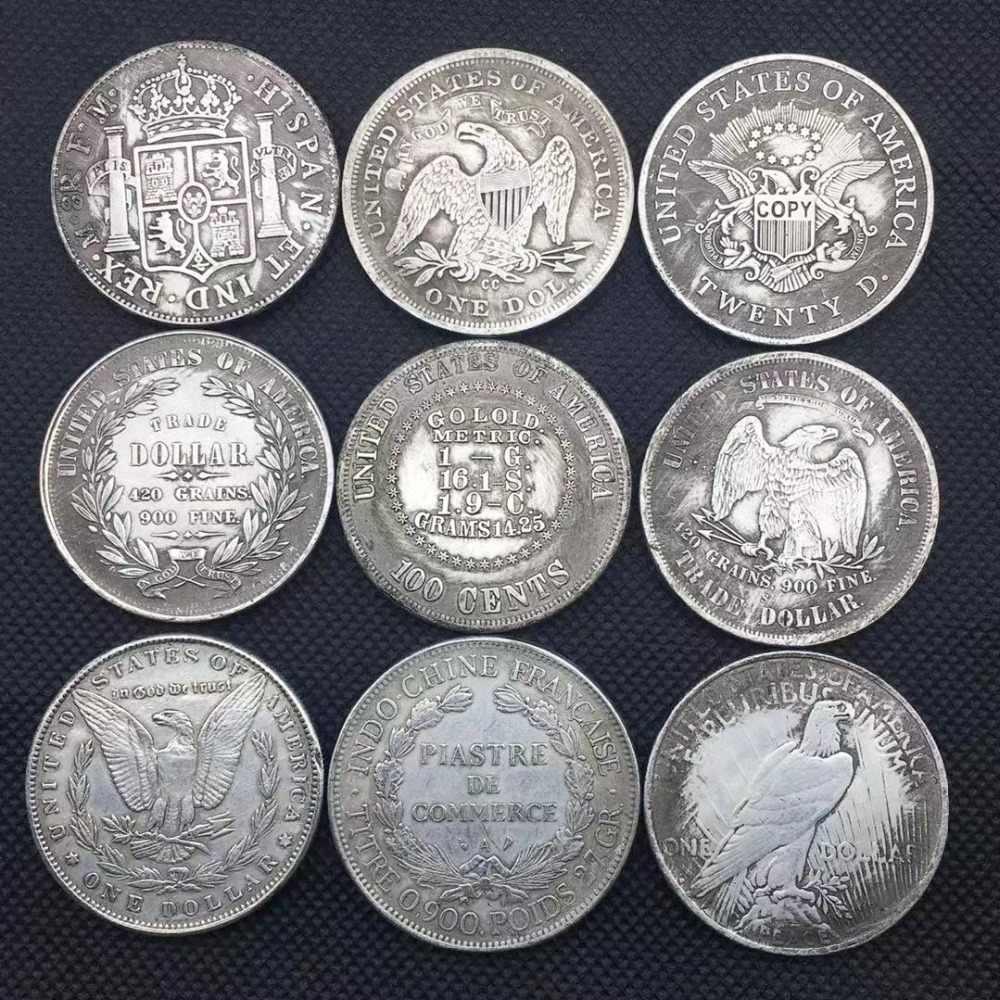 米国女王モルガン銀貨自由 Monety コイン 1 ドルアンティーク銅グッズコレクションコインメリークリスマスギフト