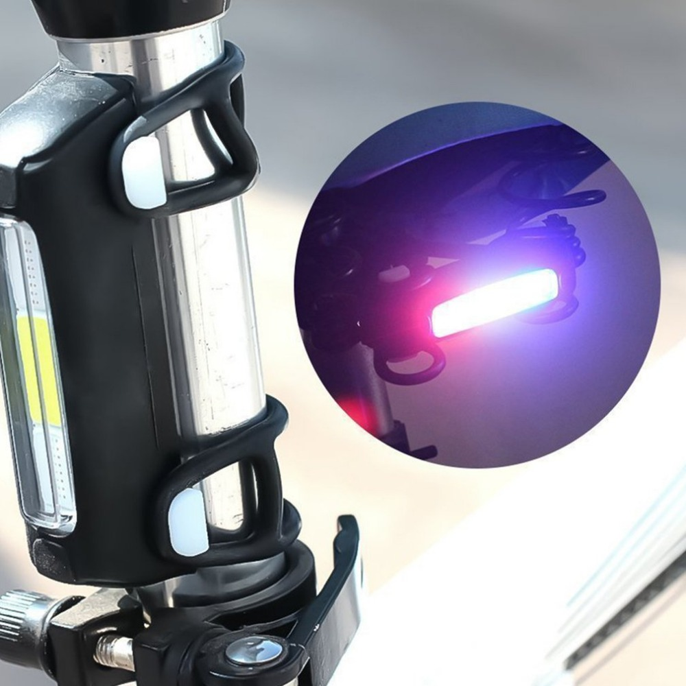 Bicycle Tail Light Ultra Bright Cycling Light USB Rechargeable 7 Lighting Modes Multifunction Safety LED Light