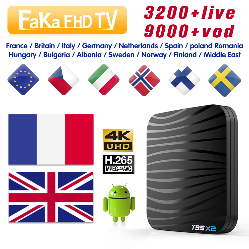 IPTV France Italy T95X2 Box 1 month Free IP TV Portugal Canada IPTV Subscription 4K TV Box IPTV Italian Spain EX YU IP TV Turkey-in Set-top Boxes from Consumer Electronics