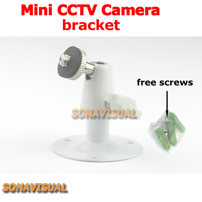 metallic mini cctv camera bracket 360 degree rotation adjustable universal surveillance camera stand wall mount cctv