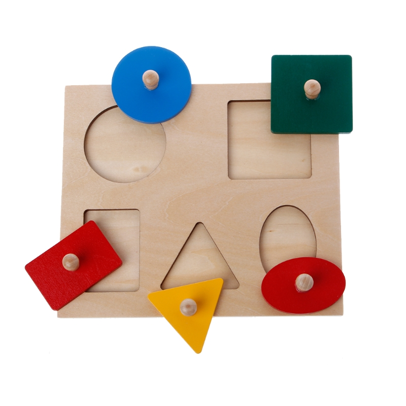 Montessori Shapes Sorting Puzzle Geometry Board Education Preschool Kids Toys 328 Promotion %312