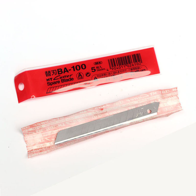 Image 5 - Japan NT Cutter Spare Replacement Blade BA 100 small art blade 9mm 58 degrees 50blade/Pack for D 400 D 1000 C 400 C 1500-in Utility Knife from Office & School Supplies