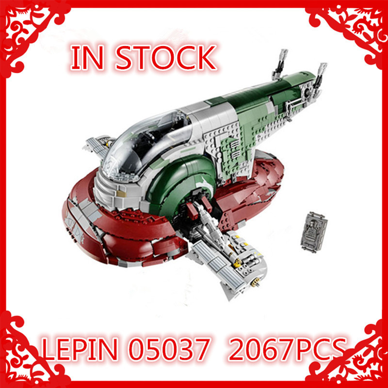 In-Stock New  LEPIN 05037 UCS Slave I Slave NO.1 Model 2067pcs Building Block Bricks Toys Kits  Compatible 75060 Children Gifts new lepin 22001 in stock pirate ship imperial warships model building kits block briks toys gift 1717pcs compatible legoed 10210