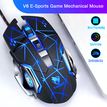 цена на Pro Gaming Mouse 6 Button 3200 DPI LED Optical USB Computer Mouse Gamer Mice V7 Game Mouse Optical Ergonomic Mause For PC Laptop