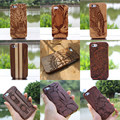for iPhone 5C Cool Fashion Genuine Bamboo Wood Handmade Case Protect Hard Shell Natural Wooden Carving Back Cover