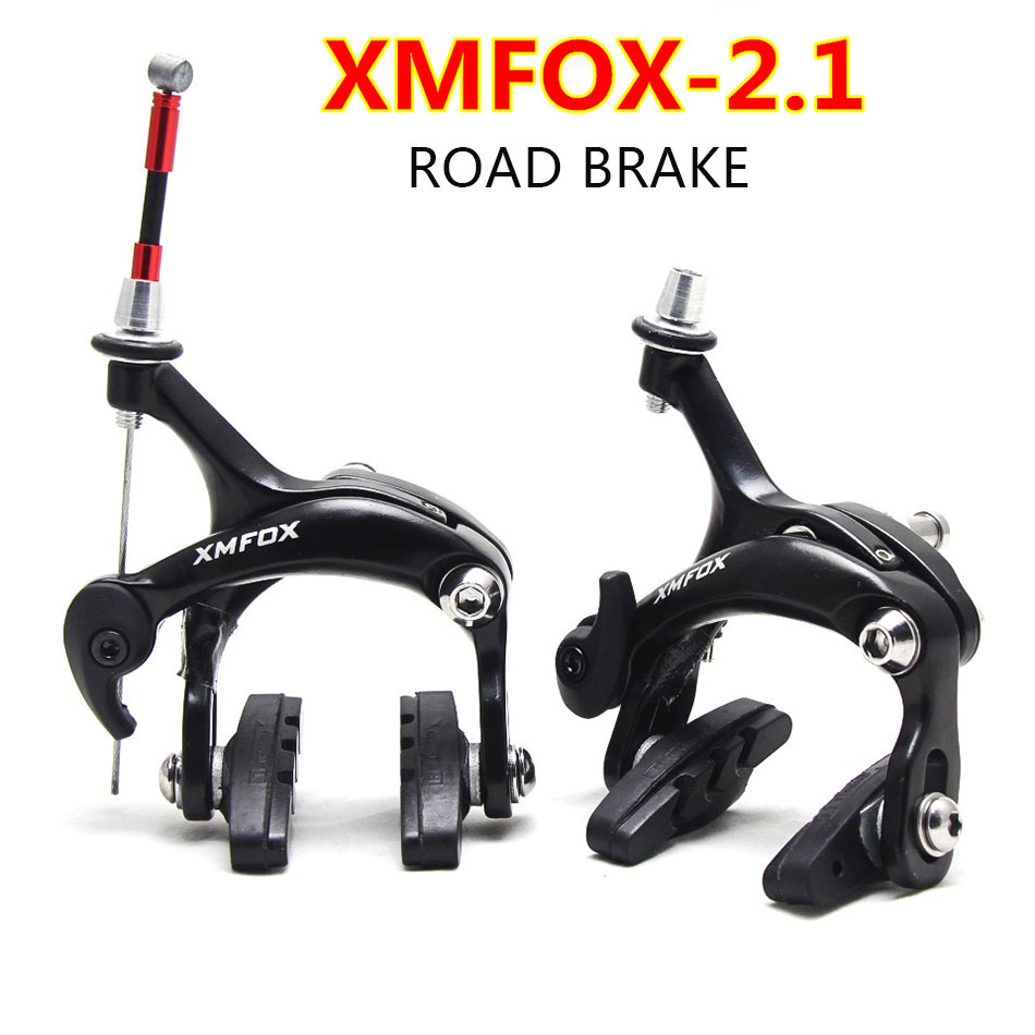 SILVER ONE BICYCLE MX SIDE PULL CALIPER BRAKE SET FITS FRONT OR REAR SILVER NEW