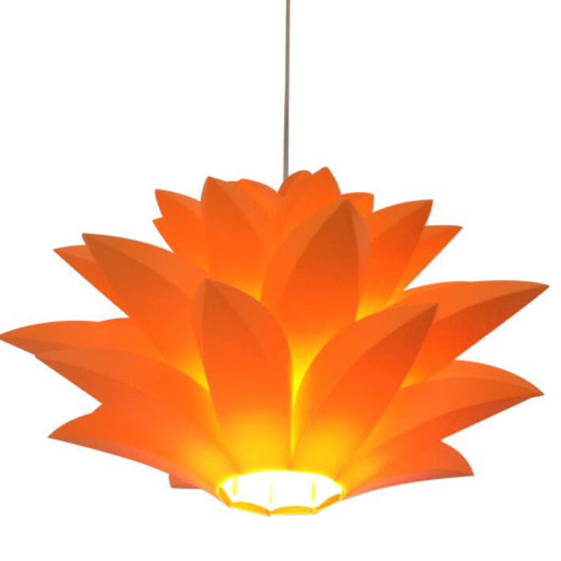Limited area post Cafe LED bedroom study PP lotus pendant light PVC lotus hanging lamps ZH FG746 lo1024 large illumination area ul panel light 4 x1 1200x300mm hanging recessed wall surface mounting no gare soft flat light