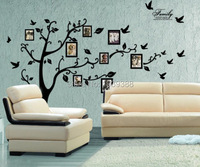 100pcs Lot Photo Tree Frame Family Forever Memory Tree Wall Decals Removable Pvc Wall Sticker Home