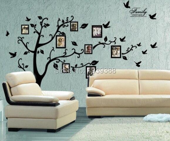 ᐅ100 unids/lote foto árbol marco familia siempre memoria Tree Wall ...