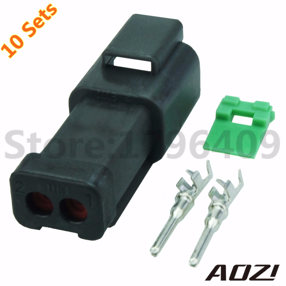 10Sets Auto Male Plastic Wire Harness Waterproof 2 Pins Connectors DT04 2P  E004-in Connectors from Home Improvement on Aliexpress.com | Alibaba Group