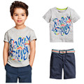 baby Boys Summer Clothing Sets Boy Brand Clothing Set Kid Apparel Children's suits cotton letter printing T-shirt+casual Shorts