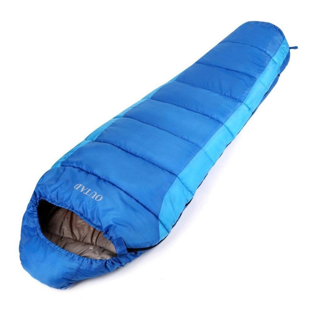 OUTAD спальный мешок открытый Мумия 0-10 градусов спальный мешок для кемпинга/Пеший Тури ...