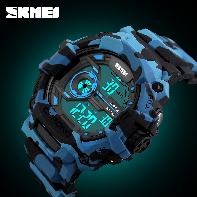 SKMEI 1233 Mannen Sport Horloges Multifunctionele LED Mode Digitale - Herenhorloges - Foto 4