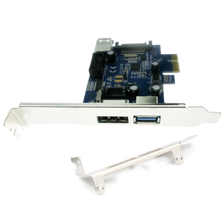 External USB3.0 Port Power eSATA Port Internal USB 3.0 9pin USB Header PCIe Card With 15pin SATA Power Socket