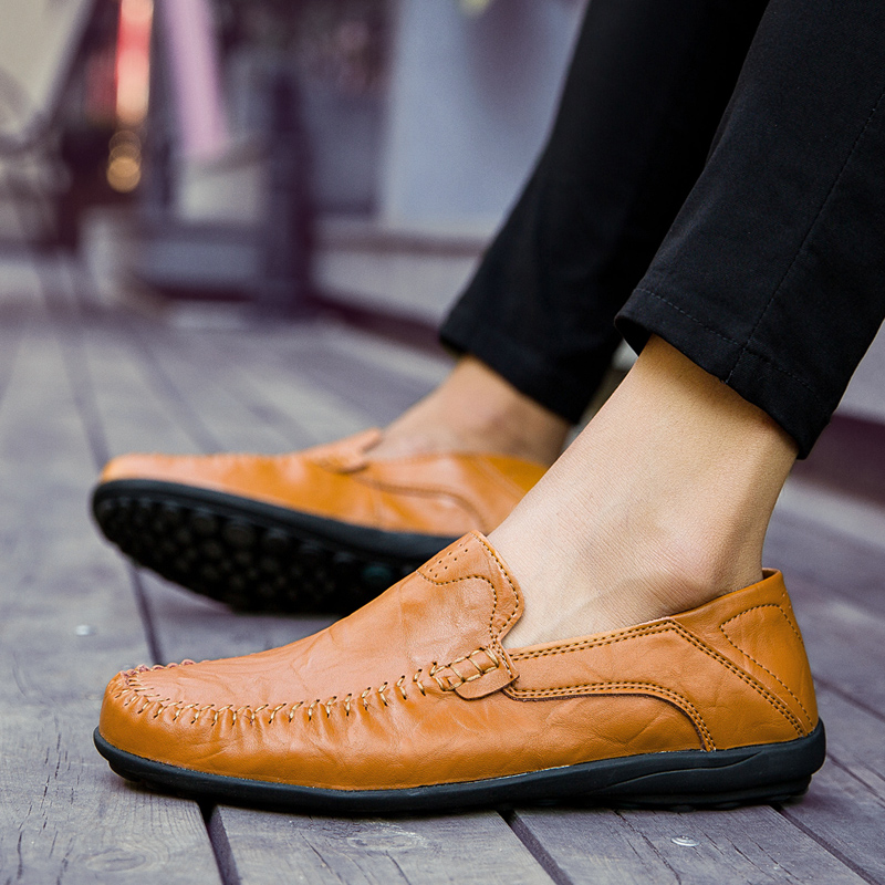 HTB1ILnFcIuYBuNkSmRyq6AA3pXal JKPUDUN Italian Mens Shoes Casual Luxury Brand Summer Men Loafers Genuine Leather Moccasins Comfy Breathable Slip On Boat Shoes