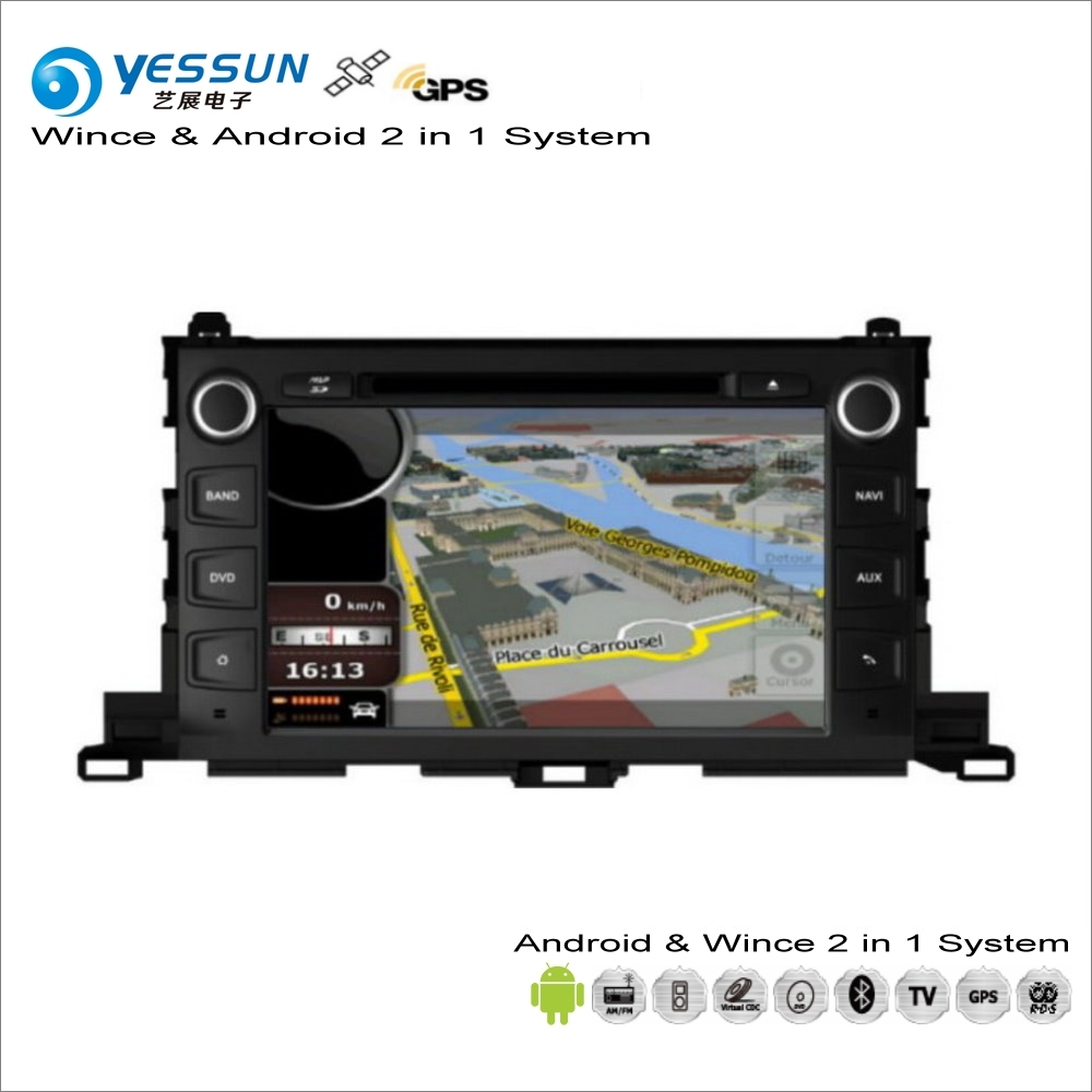 YESSUN pour Toyota Highlander XU50/Kluger 2014 ~ 2017 voiture Android Radio lecteur CD DVD GPS Navi carte Navigation Audio vidéo stéréo
