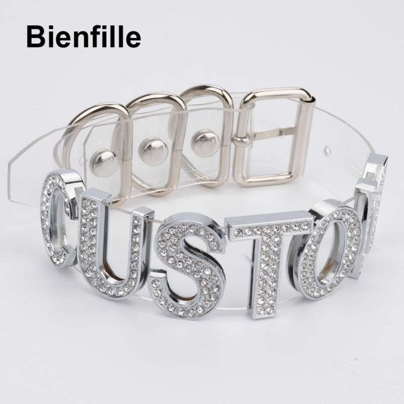 Image 5 - Charm Customized Choker Personalized Choose Unique Name Collar Necklace Crystal Silver Letters Transparent PVC Punk Goth Choker-in Choker Necklaces from Jewelry & Accessories