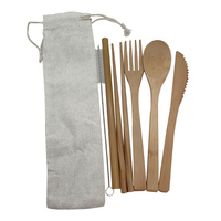 Portable Bamboo Tableware Set 5