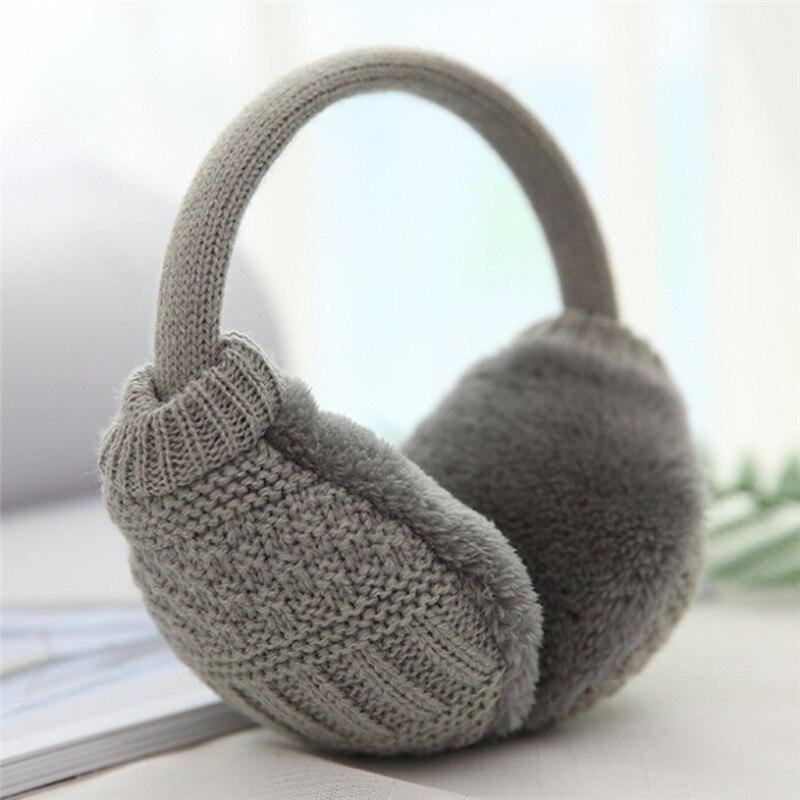 1pc Winter Ear Cover Women Warm Knitted Earmuffs Ear Warmers Women Girls Plush Ear Muffs Earlap Warmer Headband