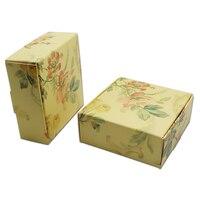 DHL Bìa Thủ Công Nhỏ Boutique Lưu Trữ Trường Hợp Kraft Giấy Jewelry Ring Necklace Đóng Gói Mini Gift Box Cho Đám Cưới/Bên Favor