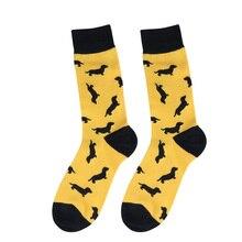 Yellow Dachshund Socks