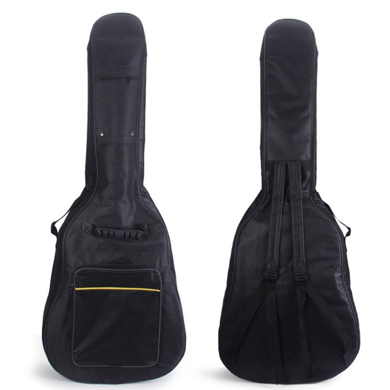 Portable Waterproof 40 / 41 Inch Padded Acoustic Guitar Gig Bag Soft Case Double Shoulder Straps Padded Guitar  Backpack 40 41 soft acoustic guitar bass case bag cc apb bag acoustic guitar padded gig bag with double padded straps and backpack