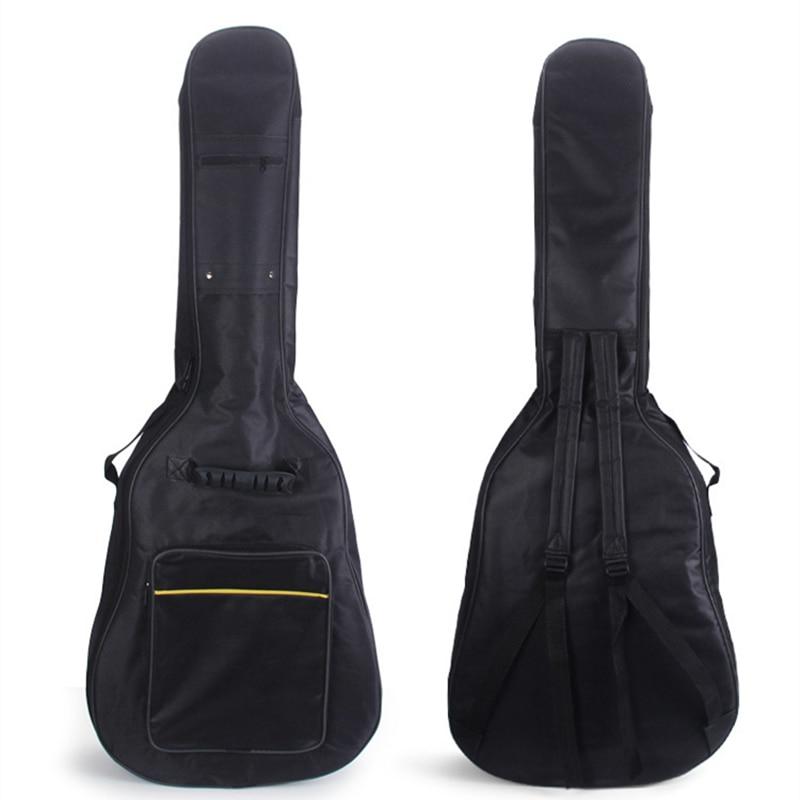Portable Waterproof 40 / 41 Inch Padded Acoustic Guitar Gig Bag Soft Case Double Shoulder Straps Padded Guitar  Backpack 21 inch colorful ukulele bag 10mm cotton soft case gig bag mini guitar ukelele backpack 2 colors optional