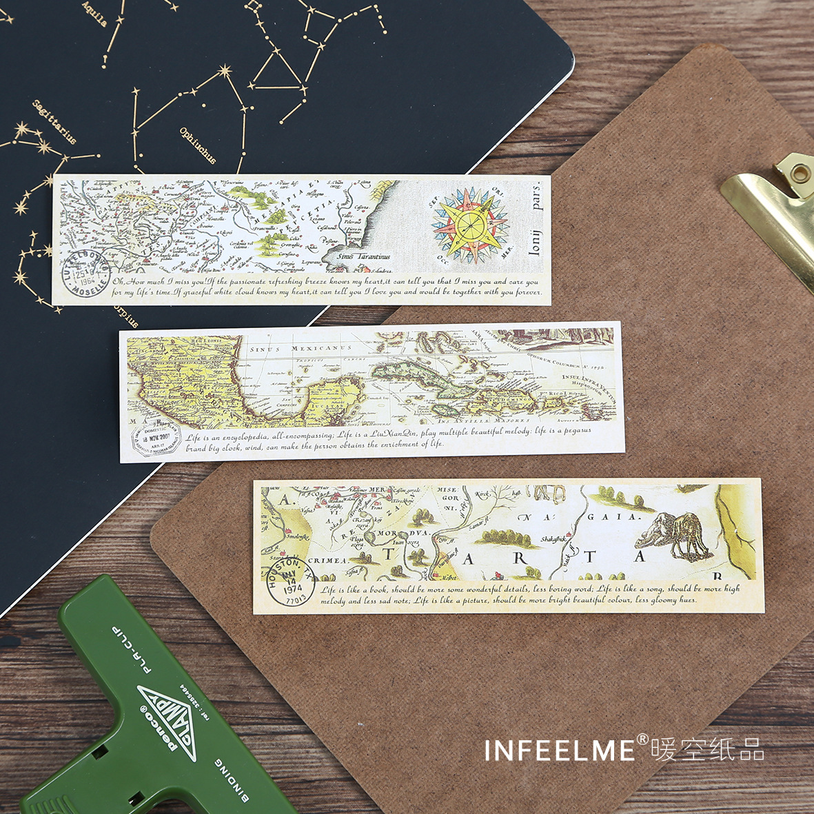30 pcspack lonely travel map bookmark paper cartoon animals bookmark promotional gift stationery film bookmark in bookmark from office school supplies on