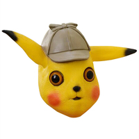 Pokemon Detective Pikachu Mask Cosplay Prop Latex Masks Adult Halloween Party