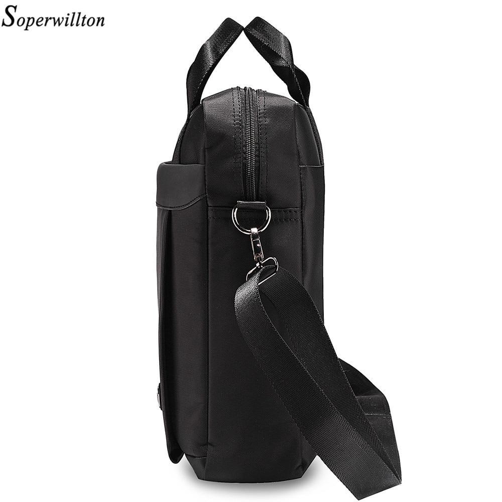 2dd3ba944c Soperwillton Brand Men Bag Handles 2019 DropShipping Black Shoulder Bag for Men  Totes Handbag 14 Inch Laptop Office Bag  1070 on Aliexpress.com
