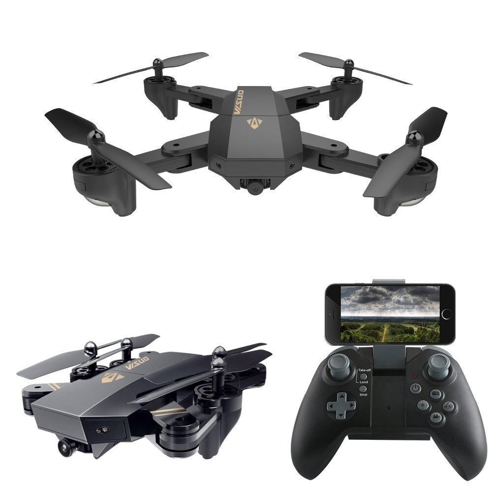 VISUO XS809W XS809HW Foldable Selfie RC Drone With FPV Wifi Camera Can Add Wide Angle Camera Altitude Hold Quadcopter VS E51 E58