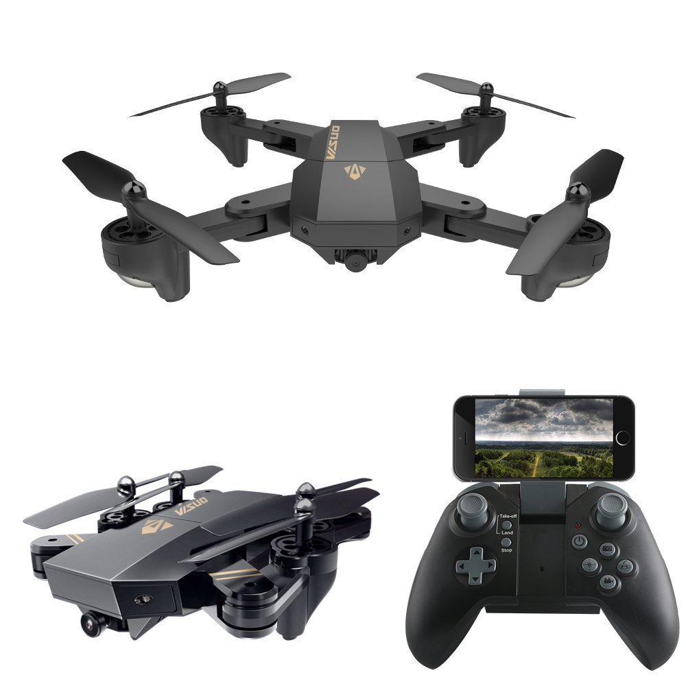 Visuo xs809w xs809hw plegable selfie drone RC con FPV WiFi cámara puede agregar gran angular Cámara altitud mantenga quadcopter vs e51 E58