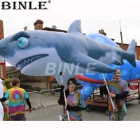 Advertisements adorn parade inflatable shark puppet flexible inflatable sea animal costume for circus party outdoor decoration