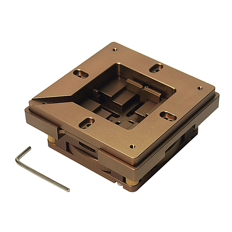 80x80mm <font><b>BGA</b></font> Reballing Kit Soldering Station Handle <font><b>90</b></font>*90mm Stencils Template Holder Jig Auto Lock Accurate Position image